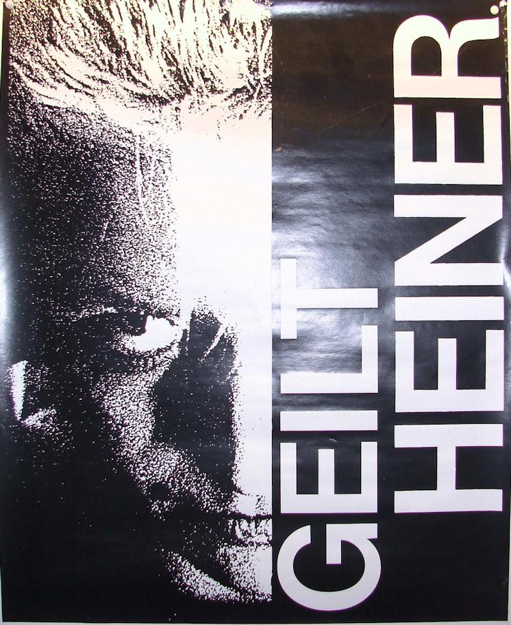 Band Plakat Geilt Heiner 2klein
