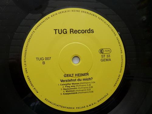 Geilt Heiner LP Side B