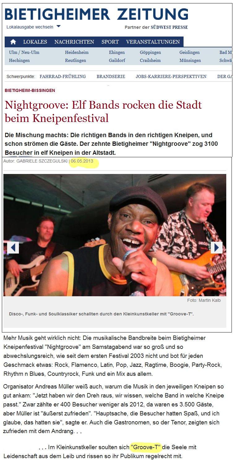 Groove-T 2013 Bietigheim